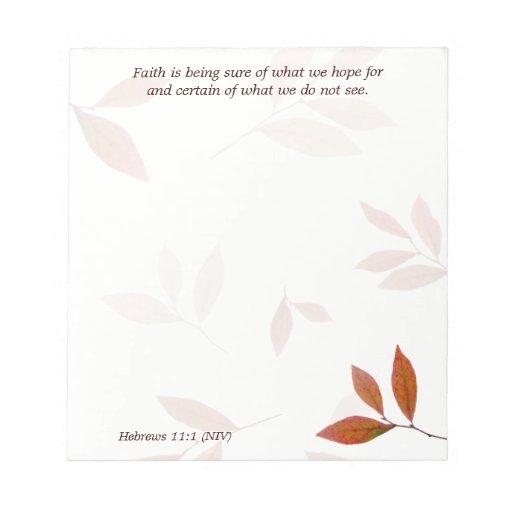 Orange Branches, Faith Verse Christian Note Paper Memo Note Pad