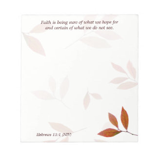 Orange Branches, Faith Verse Christian Note Paper Note Pad