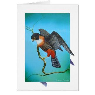 Orange-breasted Falcon Greeting Card