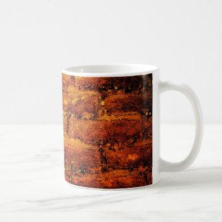 Orange brick wall mug