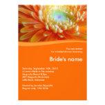 Orange Bridal Shower Invitation