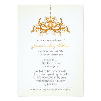 Orange Bridal Shower Invitations