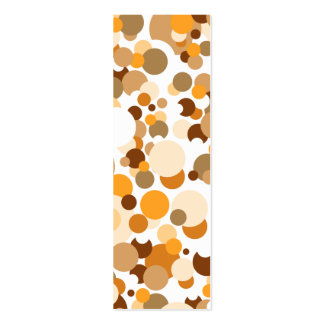 Orange, brown and beige confetti business card