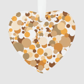 Orange, brown and beige confetti ornament