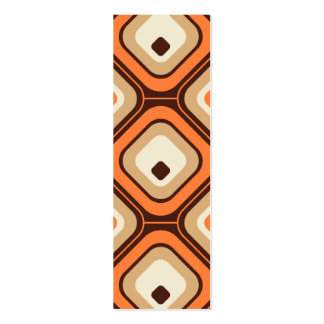 Orange, brown and beige squares business card templates