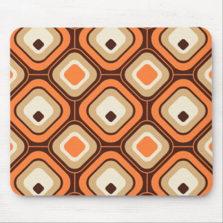 Orange, brown and beige squares mouse pad