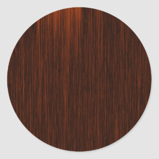 Orange/Brown and Black Lines Pattern Classic Round Sticker