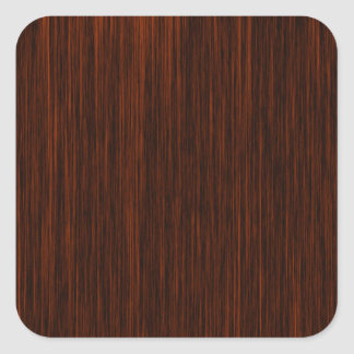 Orange/Brown and Black Lines Pattern Square Sticker
