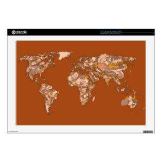 orange brown atlas world decal for laptop