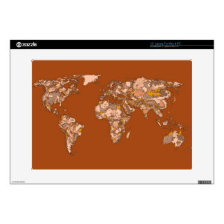 """orange brown atlas world 15"""" laptop decal"""