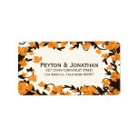 Orange Brown Autumn Leaves Address Labels at Zazzle