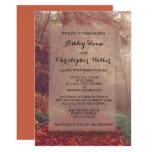 Orange Brown Autumn Leaves Wedding Invitations
