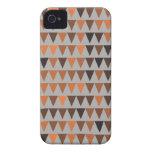 Orange Brown Black Gray Bunting Case-Mate iPhone 4 Case