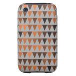 Orange Brown Black Gray Bunting Tough iPhone 3 Case