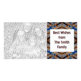 orange brown blue card