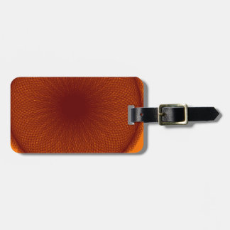 orange brown lime luggage tags