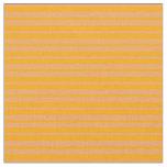[ Thumbnail: Orange & Brown Lined Pattern Fabric ]