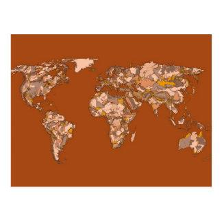 Orange brown mother earth postcard