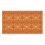 Orange - Brown Pattern, with Swirls. Business Card Template