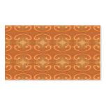 Orange - Brown Pattern, with Swirls. Business Card Templates