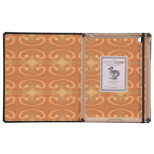 Orange - Brown Pattern, with Swirls. iPad Folio Case