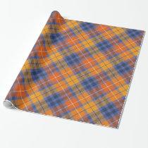 Orange Brown Purple Plaid Wrapping Paper