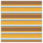 [ Thumbnail: Orange, Brown, Sky Blue, and Lavender Lines Fabric ]