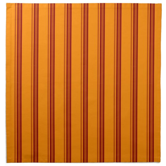 Orange / Brown Stripes Retro - Napkins