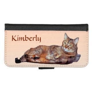 Orange Brown Tabby Cat iPhone 8/7 Wallet Case
