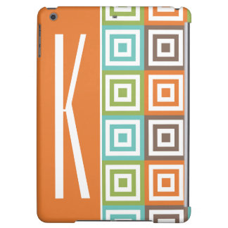 Orange, Brown, Teal, and Green Retro Squares iPad Air Case