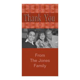 orange brown thank you card