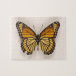 [ Thumbnail: Orange Brown Winged Butterfly Puzzle ]