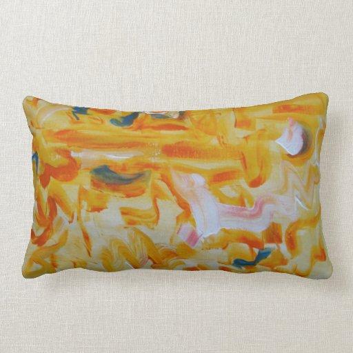 Orange Brushstrokes - Abstract Art Pillows