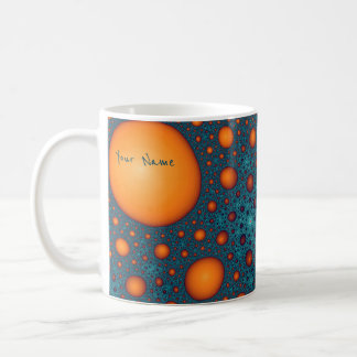 Orange bubbles. Add your name or custom text. Coffee Mug