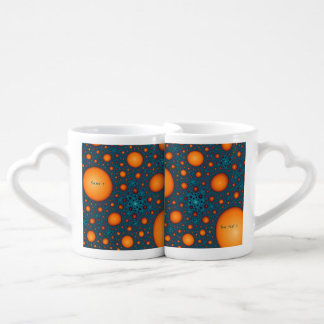 Orange bubbles. Add your name or custom text. Coffee Mug Set