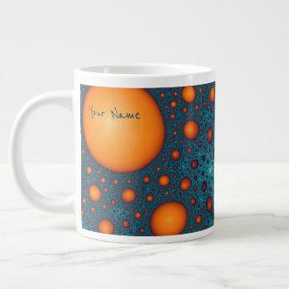 Orange bubbles. Add your name or custom text. Large Coffee Mug