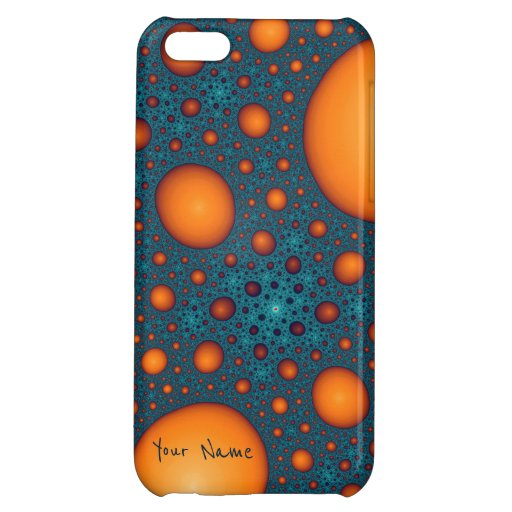 Orange bubbles. Add your name or the other text. Case For iPhone 5C