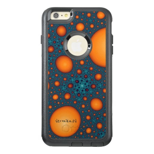 Orange bubbles. Add your name or the other text. OtterBox iPhone 6/6s Plus Case