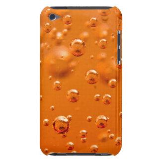 Orange bubbles barely there iPod case