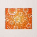 Orange Bubbles Jigsaw Puzzles