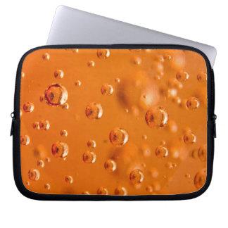 Orange bubbles laptop computer sleeve