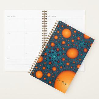 Orange bubbles. planner