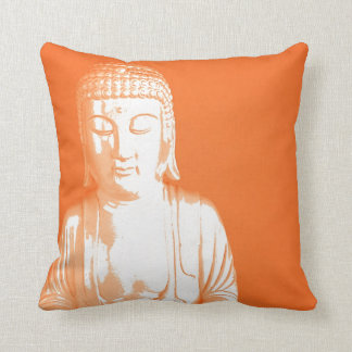orange Buddha Gautama Throw Pillow