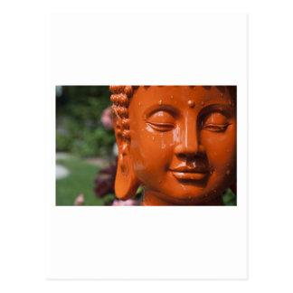 Orange Buddha Head Postcard