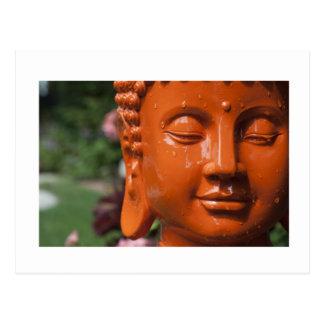 Orange Buddha Head Post Cards