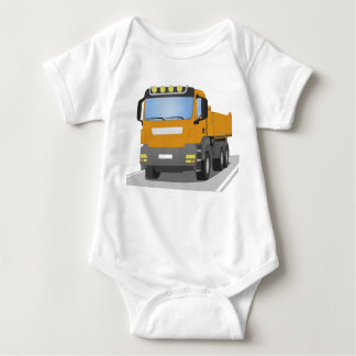 orange building sites truck baby bodysuit