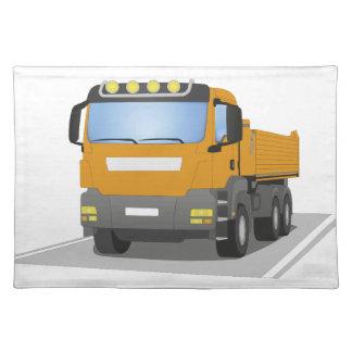 orange building sites truck cloth placemat
