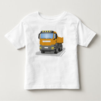 orange building sites truck toddler t-shirt