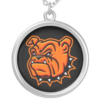 Orange Bulldog Necklace