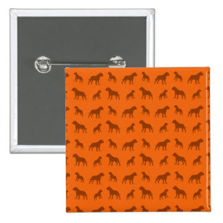 Orange bulldog pattern pins